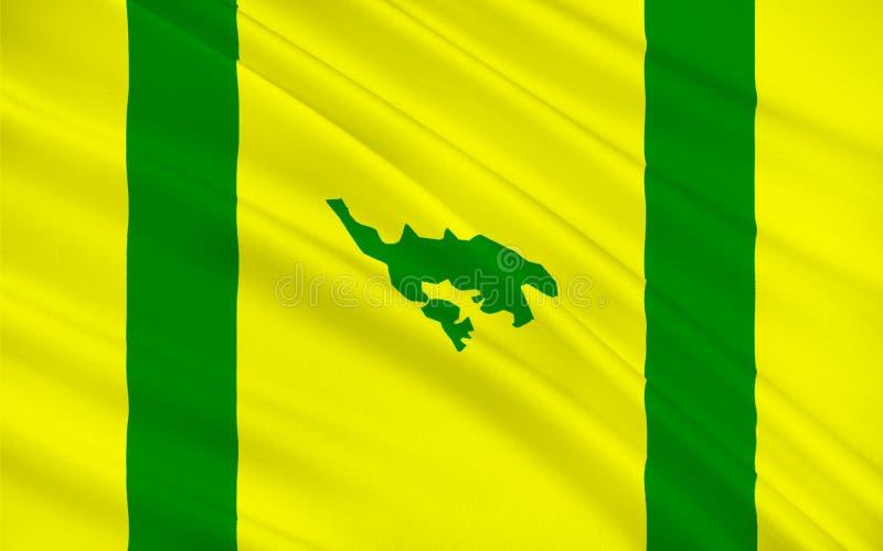 Flagga av Isla Culebra, Puerto Rico, USA vektor illustrationer