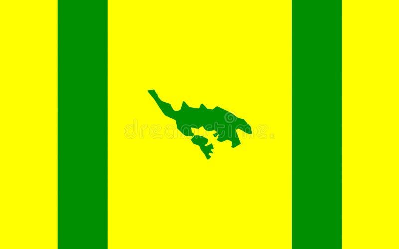 Flagga av Isla Culebra, Puerto Rico, USA royaltyfri fotografi