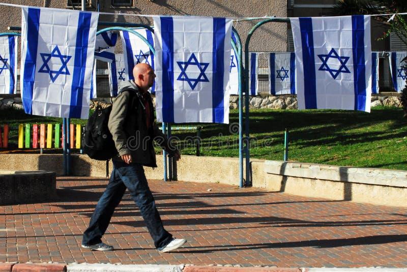 Flagga av Israel fotografering för bildbyråer