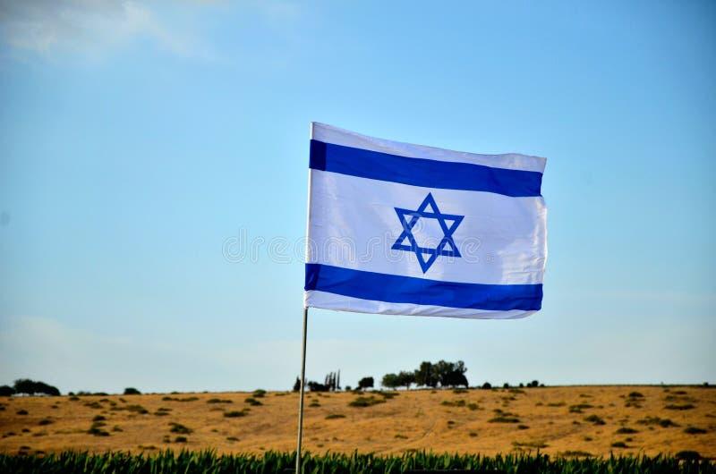 Flagga av Israel utomhus arkivfoto