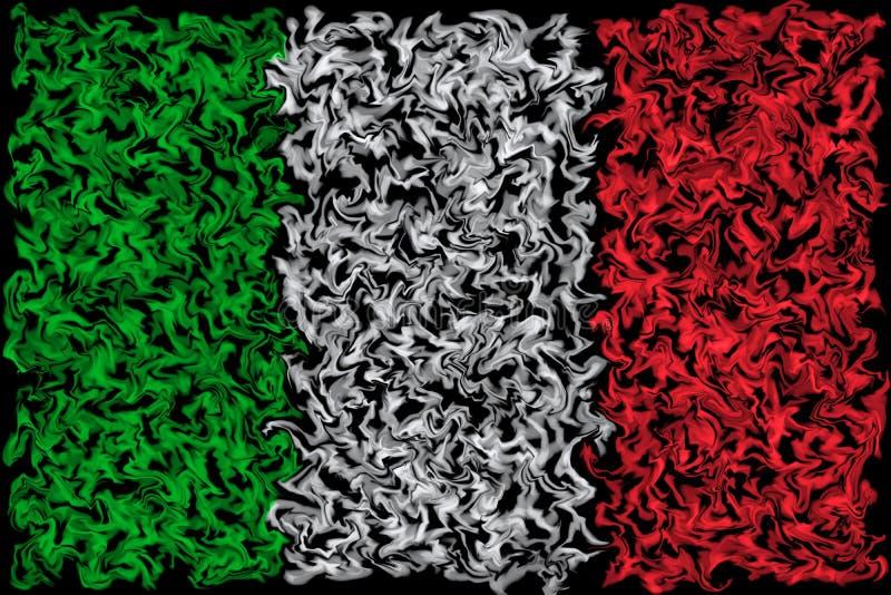 Flagga av Italien - suddig bränningfärgdesign royaltyfri illustrationer