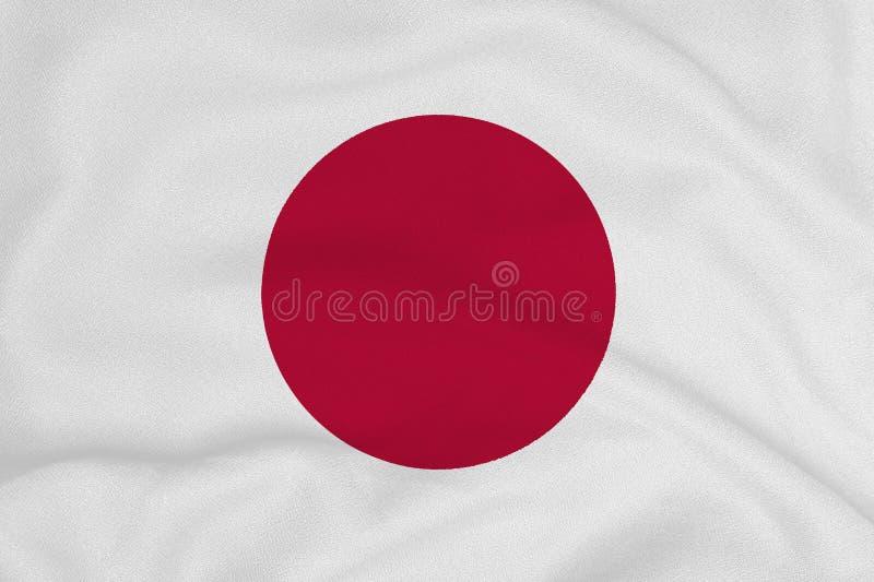 Flagga av Japan från det fabrik stack tyget Bakgrunder och texturer arkivbild