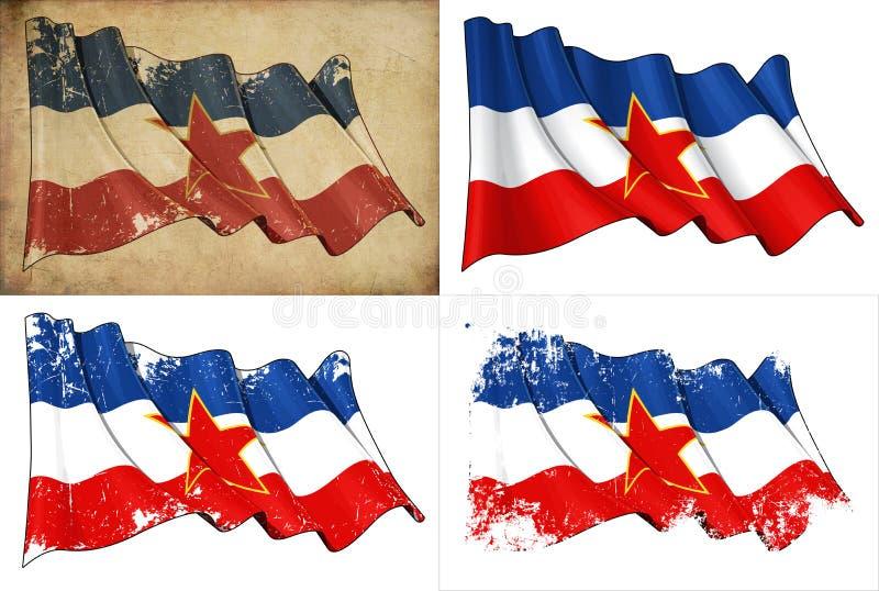 Flagga av Jugoslavien vektor illustrationer