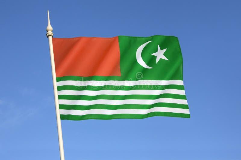 Flagga av Kashmir - Indien royaltyfri fotografi