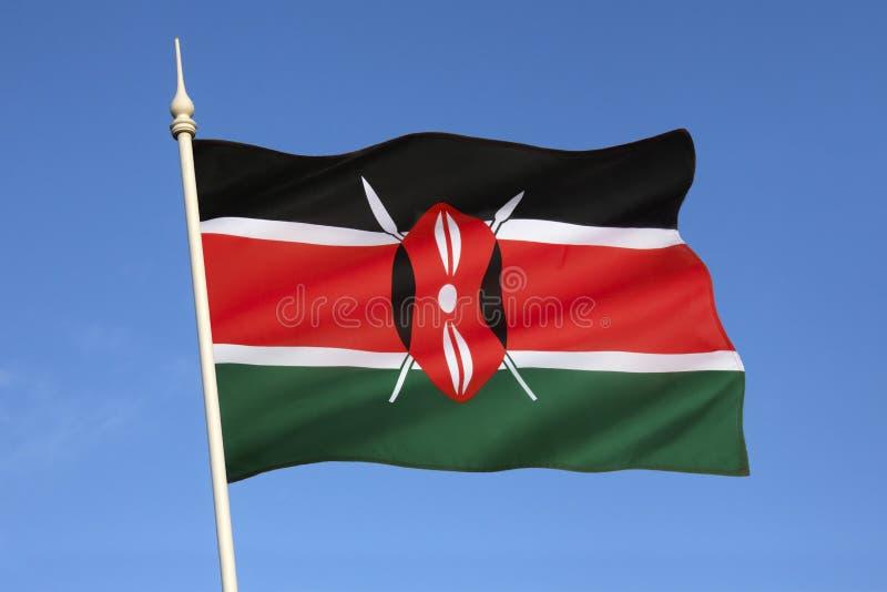 Flagga av Kenya - Afrika royaltyfri foto