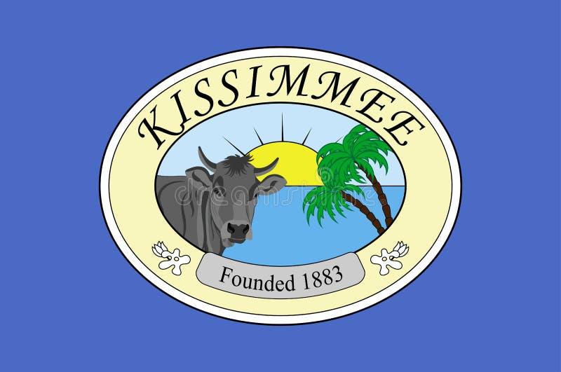 Flagga av Kissimmee i Osceola County i Florida av USA stock illustrationer