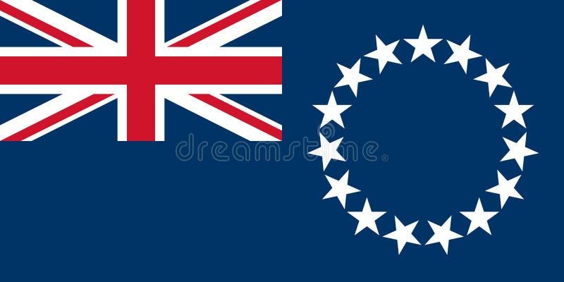 Flagga av kocken Islands royaltyfri illustrationer