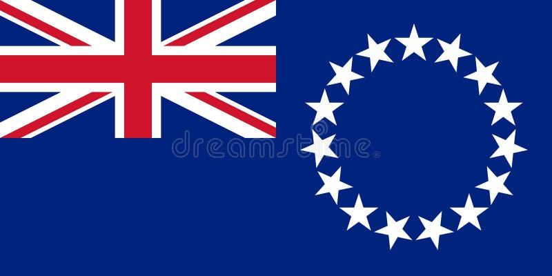 Flagga av kocken Islands vektor illustrationer