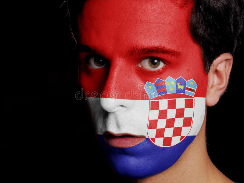 Flagga av Kroatien arkivfoto