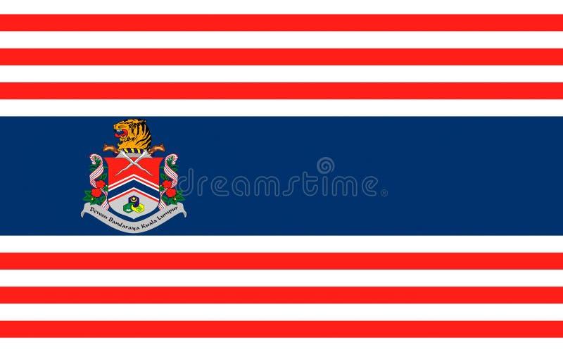 Flagga av Kuala Lumpur, Malaysia vektor illustrationer