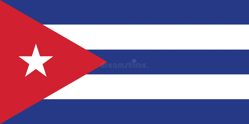 Flagga av Kubavektorillustrationen royaltyfri illustrationer