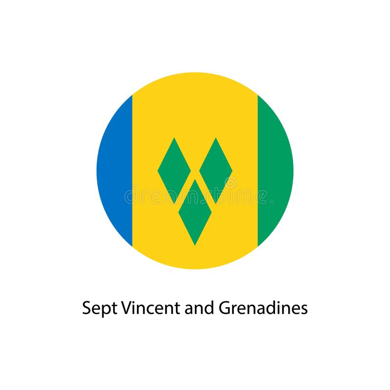 Flagga av landet av Saint Vincent och Grenadinerna stock illustrationer