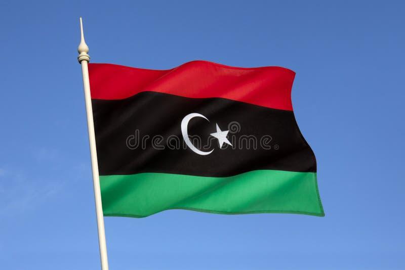 Flagga av Libyen - Nordafrika arkivfoto