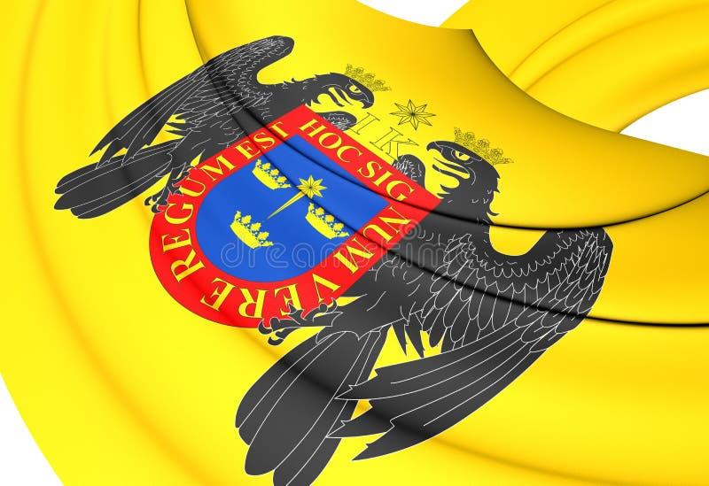 Flagga av Lima, Peru vektor illustrationer