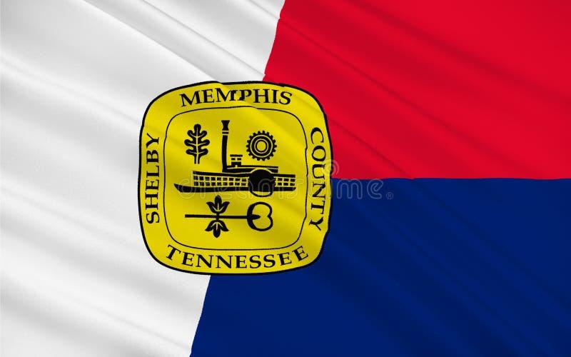 Flagga av Memphis i Tennessee, USA royaltyfri illustrationer