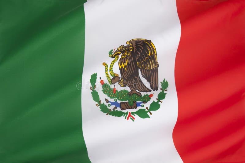 Flagga av Mexico fotografering för bildbyråer