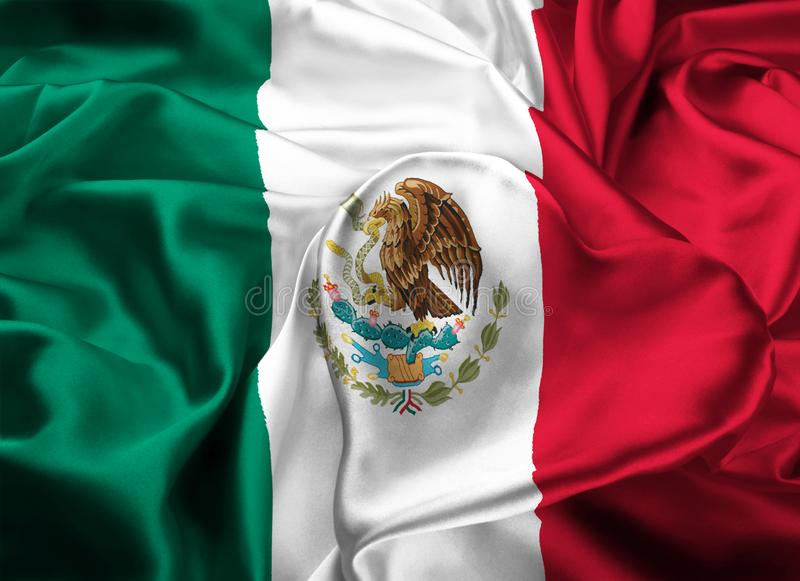 Flagga av Mexico, Mexico - stad royaltyfria bilder
