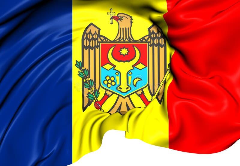 Flagga av Moldavien vektor illustrationer