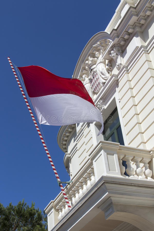 Flagga av Monaco fotografering för bildbyråer