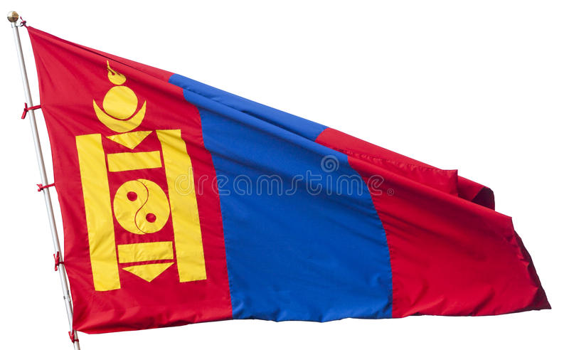 Flagga av Mongoliet arkivbild
