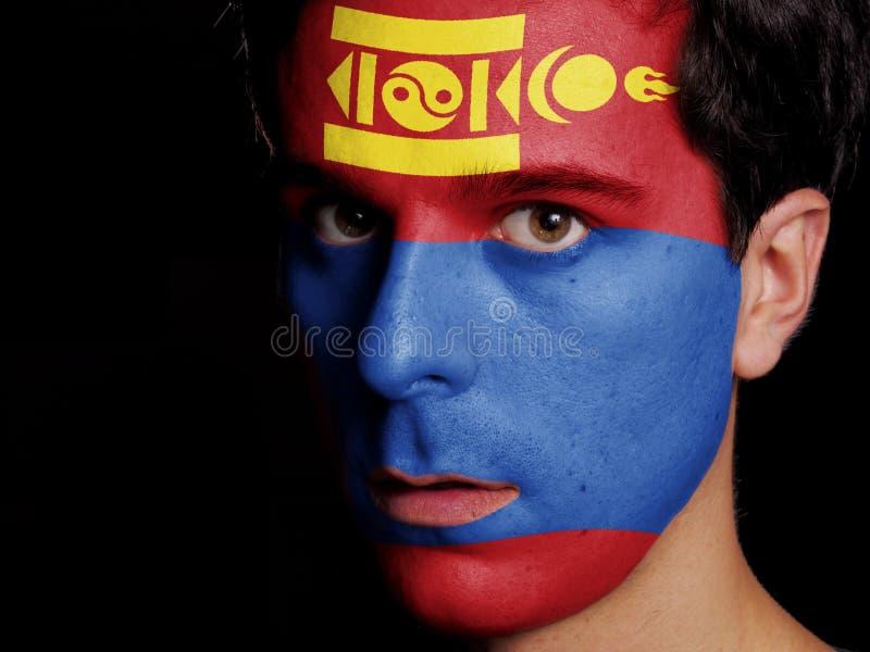 Flagga av Mongoliet royaltyfri bild