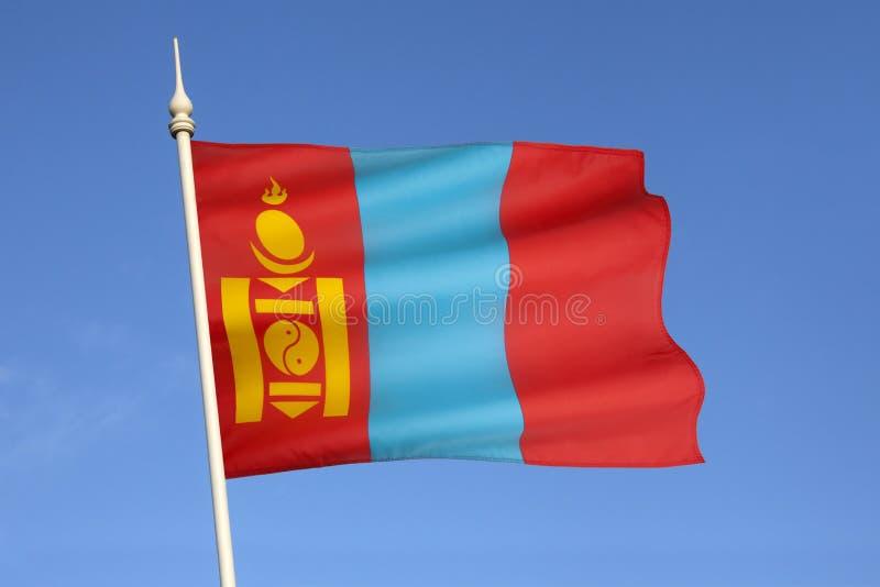 Flagga av Mongoliet - centrala Asien royaltyfri fotografi