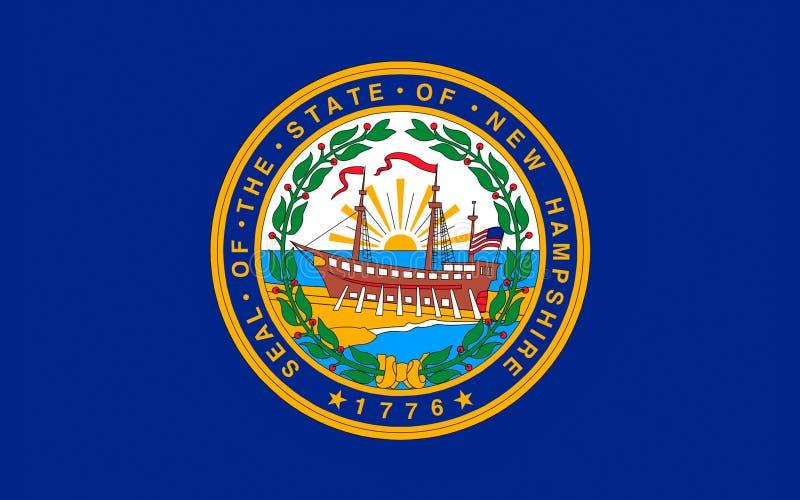 Flagga av New Hampshire, USA arkivbild