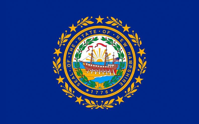Flagga av New Hampshire, USA royaltyfri bild