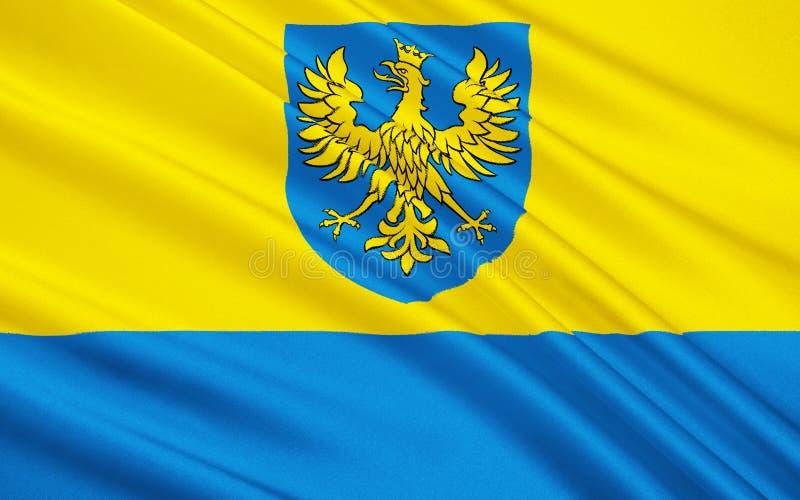 Flagga av Opole Voivodeship i Polen arkivbild