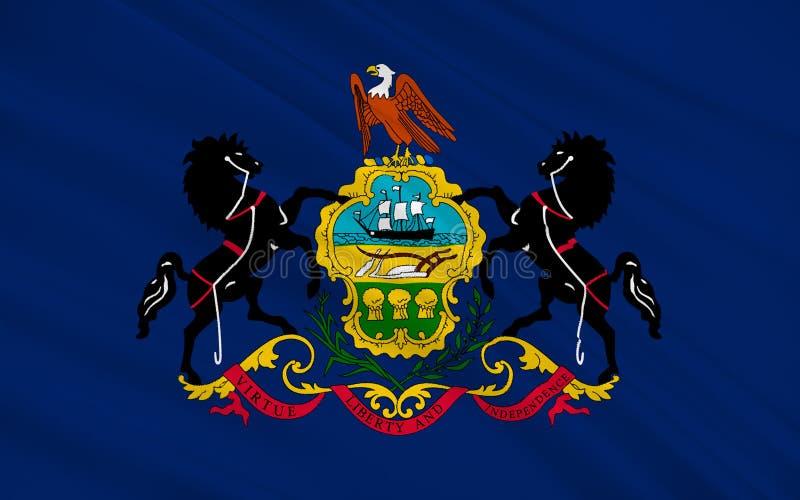 Flagga av Pennsylvania, USA vektor illustrationer