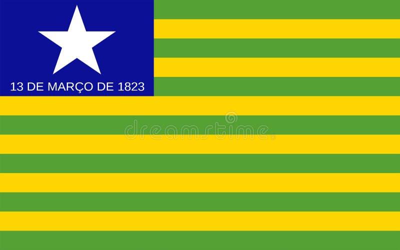 Flagga av Piaui, Brasilien royaltyfria bilder