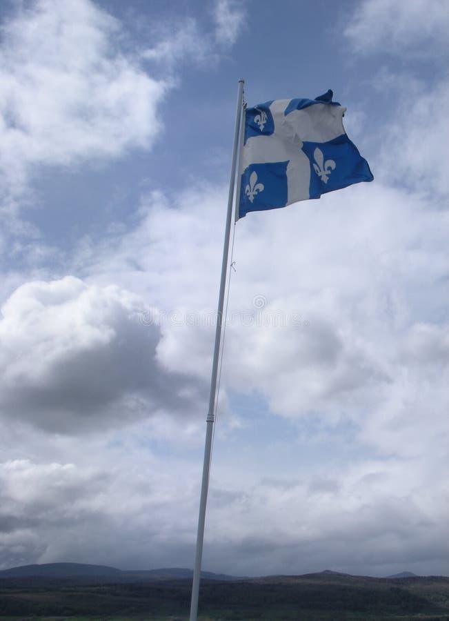 Flagga av Quebec, Fleurdelisé, Kanada royaltyfria bilder