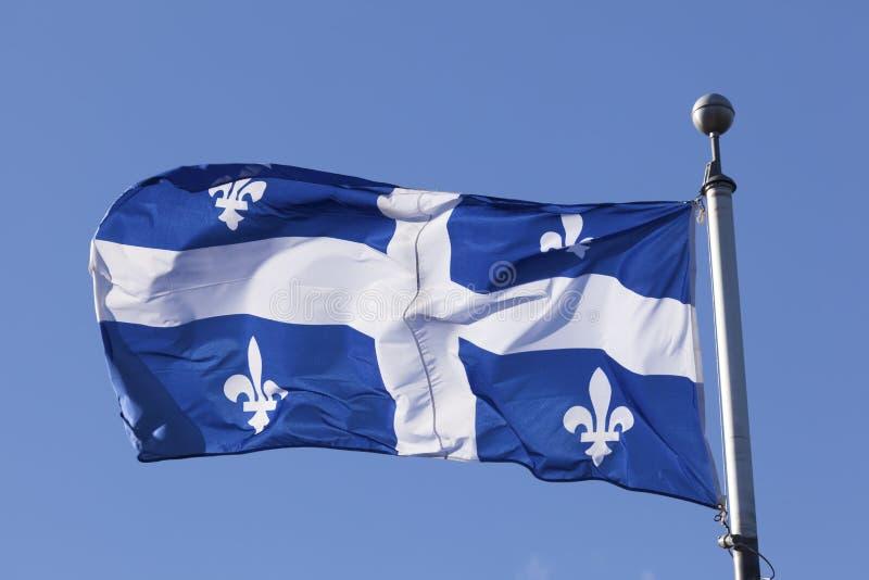 Flagga av Quebec, Kanada arkivfoton