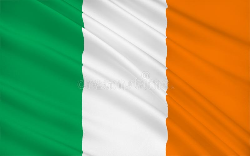 Flagga av Republikenet Irland vektor illustrationer