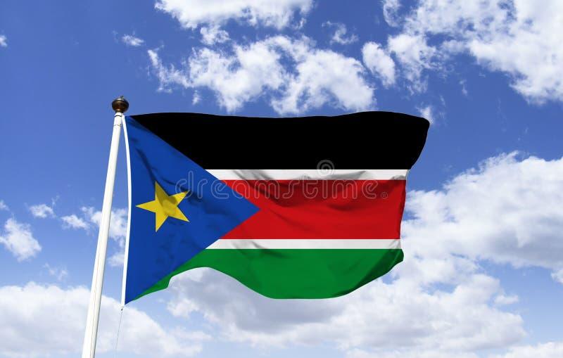 Flagga av södra Sudan, religion av islam fotografering för bildbyråer