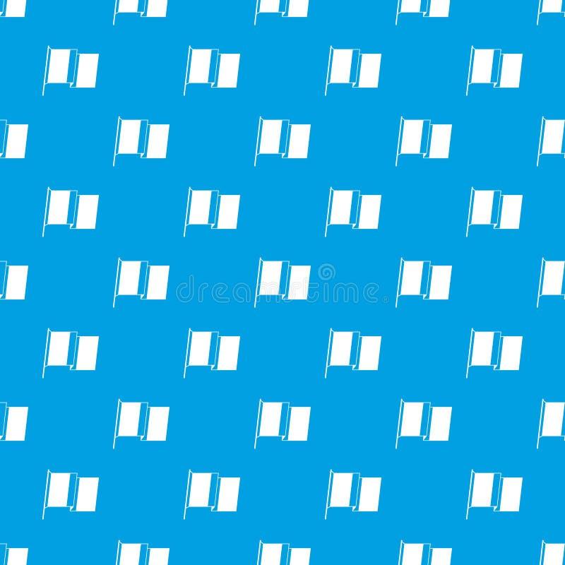 Flagga av sömlösa blått för Irland modell stock illustrationer