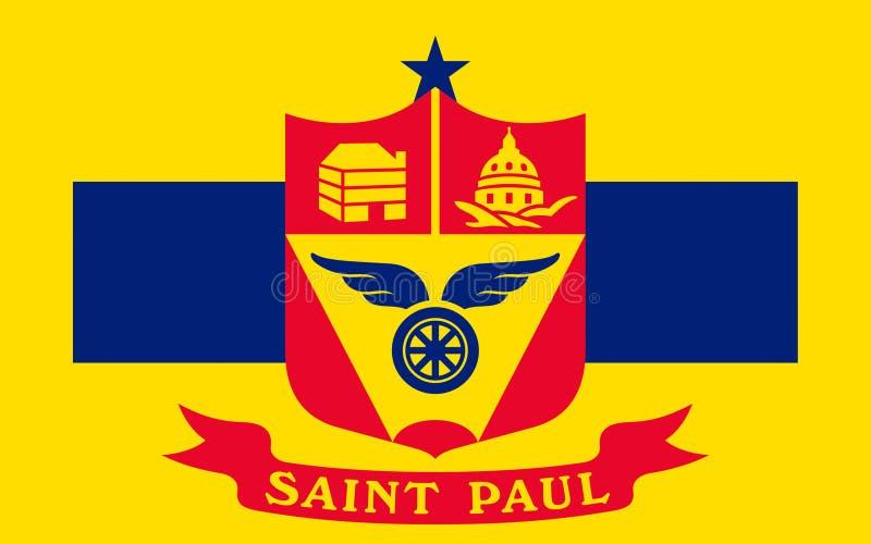 Flagga av Saint Paul i Minnesota, USA royaltyfria bilder