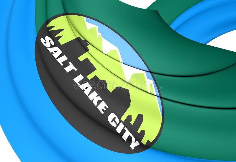 Flagga av Salt Lake City, USA vektor illustrationer