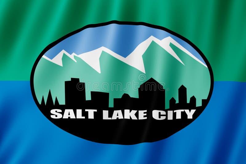 Flagga av Salt Lake City, Utah USA stock illustrationer