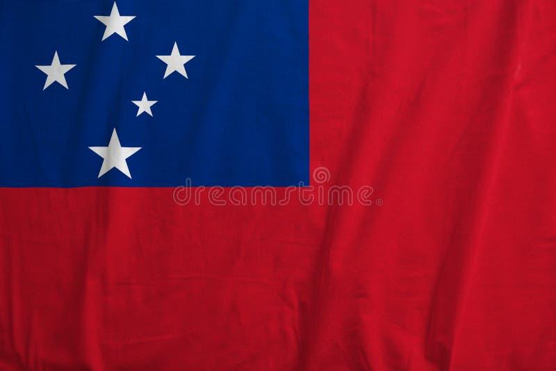 Flagga av Samoa att vinka arkivbild