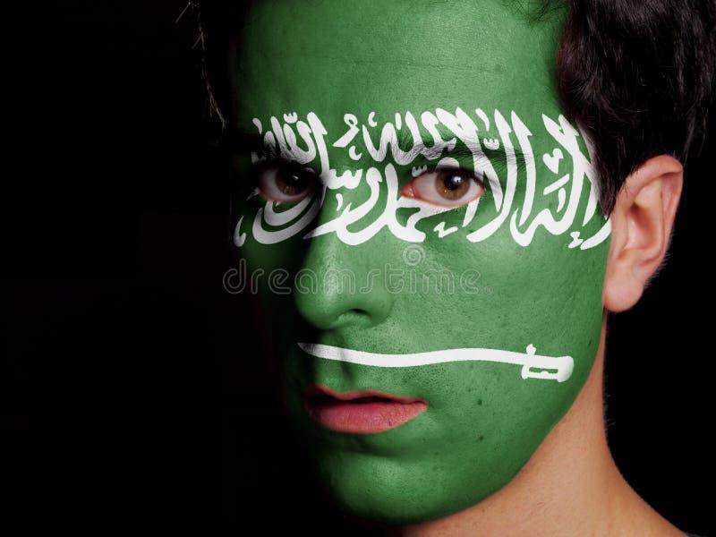 Flagga av Saudiarabien royaltyfri foto