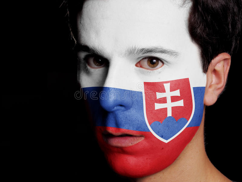 Flagga av Slovakien royaltyfri bild