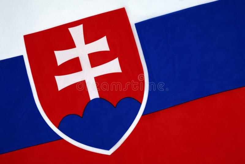 Flagga av Slovakien royaltyfri fotografi