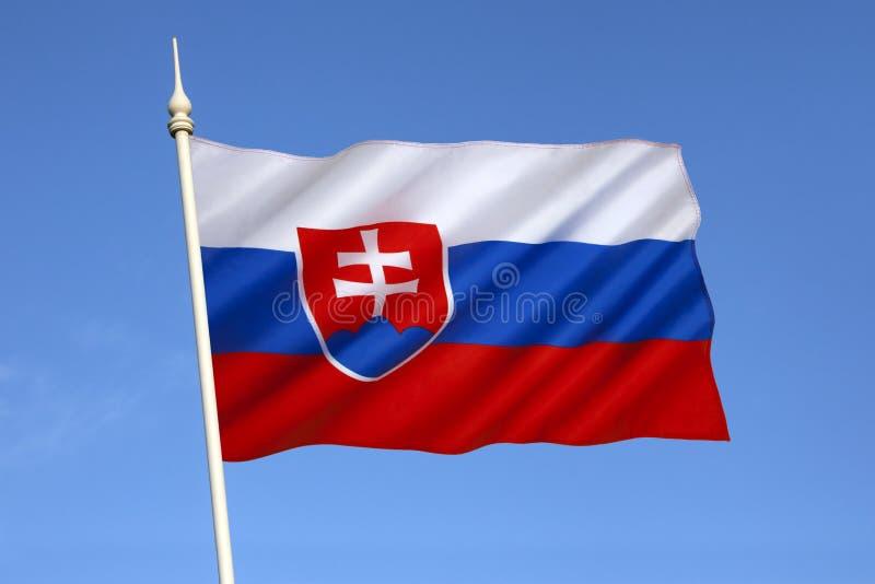 Flagga av Slovakien - Europa royaltyfria foton