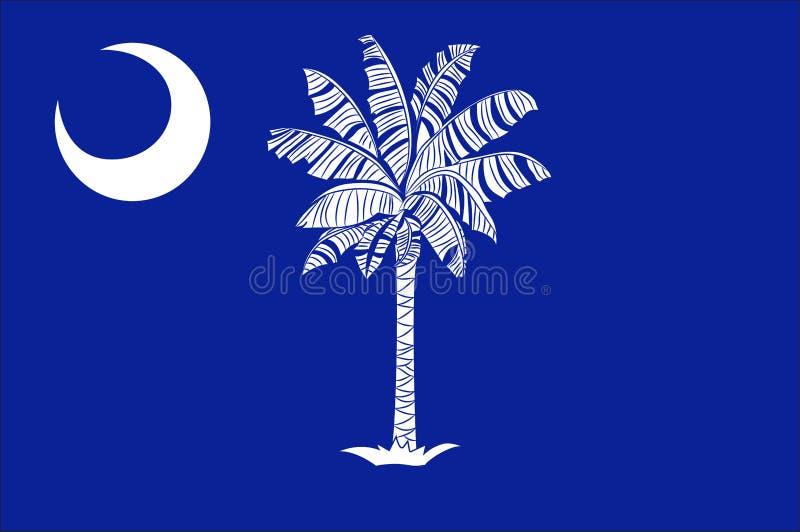 Flagga av South Carolina, USA vektor illustrationer