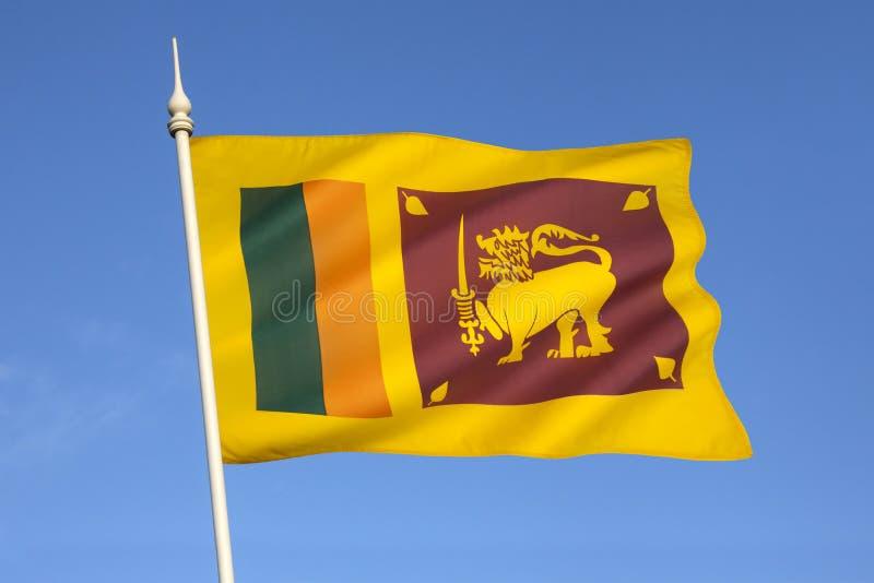 Flagga av Sri Lanka royaltyfria bilder