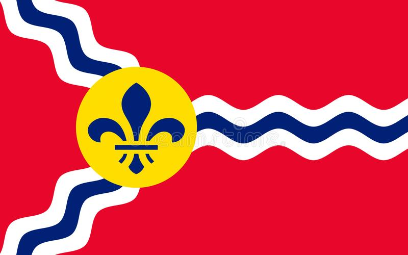 Flagga av St Louis i Missouri, USA royaltyfri bild