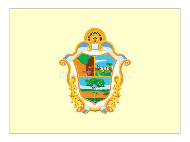 Flagga av staden av Manaus stock illustrationer