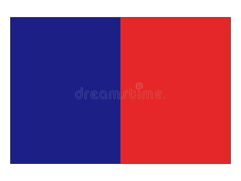 Flagga av staden av Paris royaltyfri illustrationer