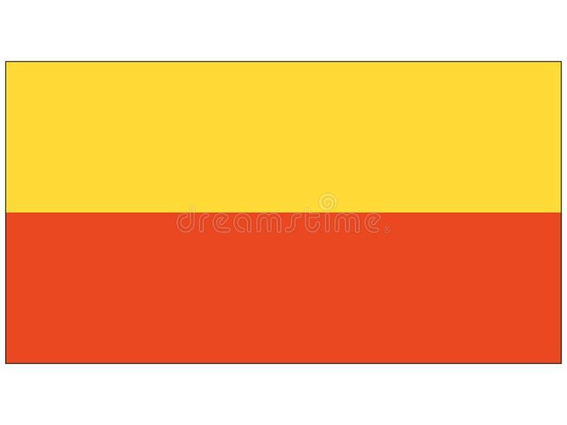 Flagga av staden av Prague royaltyfri illustrationer
